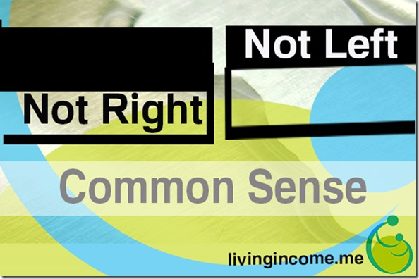 Not Right, Not Left - Common Sense - Living Income Guaranteed